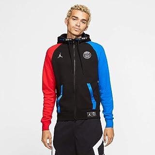 Nike PSG Air Jordan Full Zip Fleece Hoodie - Black/Red/Blue 2019-2020