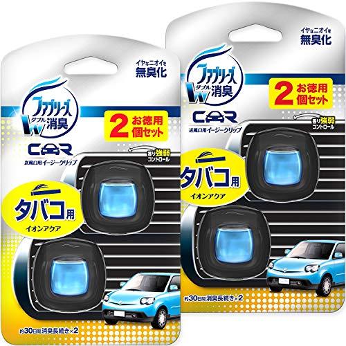 ファブリーズ 消臭芳香剤 車用 クリップ型 イージークリップ タバコ用 2mL×4個