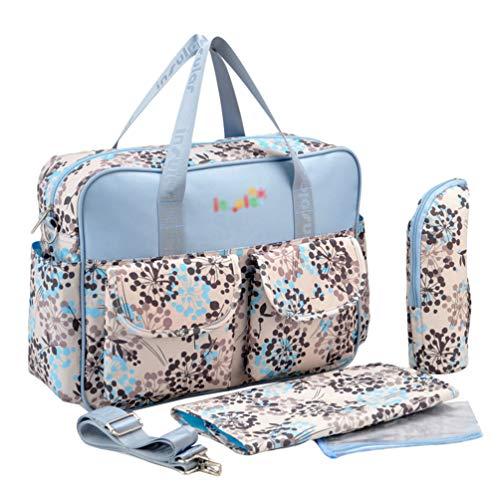 Haobing Moderne Wickeltasche 2pcs Geräumige Baby Tasche Reise Wickelhenkeltaschen Umhängetaschen für Schwangere (Löwenzahn, 39 * 12.5 * 29cm)