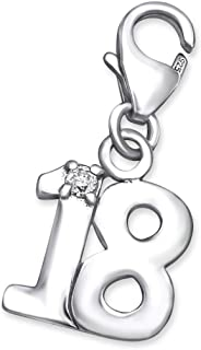 Sterling Silver Sweet 18 Clip on Charm