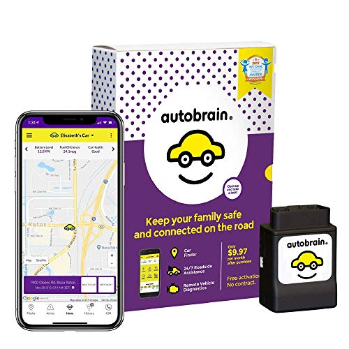 Autobrain GPS Tracker for Vehicles, Cars, Trucks, 1 Month Data Plan, OBDII Real Time Location...
