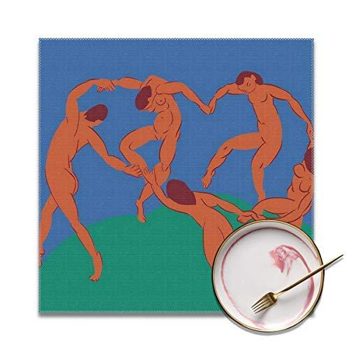Manteles Individuales genericos para Mesa de Comedor Matisse Dancing Nude, poliester antiincrustante, Resistente al Calor y al Calor, Antideslizante, Lavable, para Cocina y Comedor