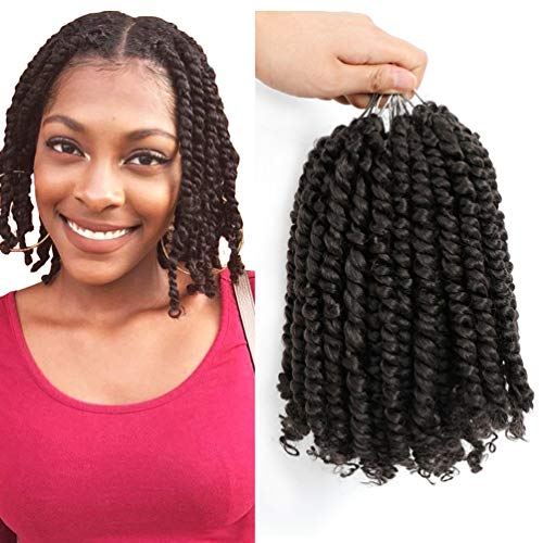 7 pack Pre twisted Passion Twist Crochet Hair 4# color 10inch Pre-looped Twist Hair Braids Weave Master Bomb Twist Hair Extensions