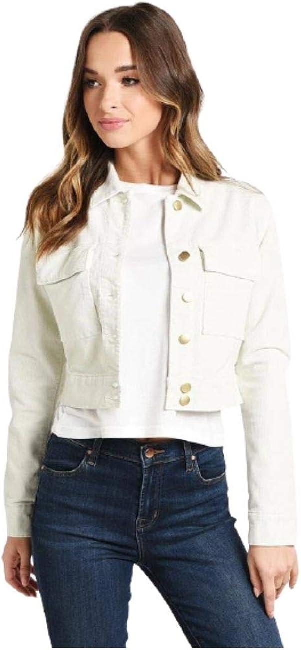 J Brand Womens Ray Corduroy Cropped Denim Jacket