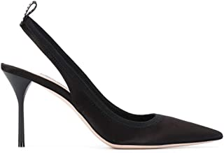Luxury Fashion | Miu Miu Women 5I353CFB0853D50F0002 Black Leather Heels | Spring-summer 20