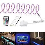 LED Strip Light 9.8ft, TV Bias Lighting for 49 to 65 inch HDTV, Multicolor Light Strip with Remote and 12V Adapter, RGB Backlight for Under Cabinet,Kitchen,Home Theater Decoration,3m Color Changing