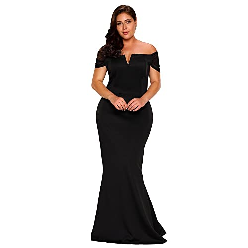 d68c24b325 FUSENFENG Women's Plus Size Off Shoulder Mermaid Formal Party Long Maxi  Dress Evening Gowns