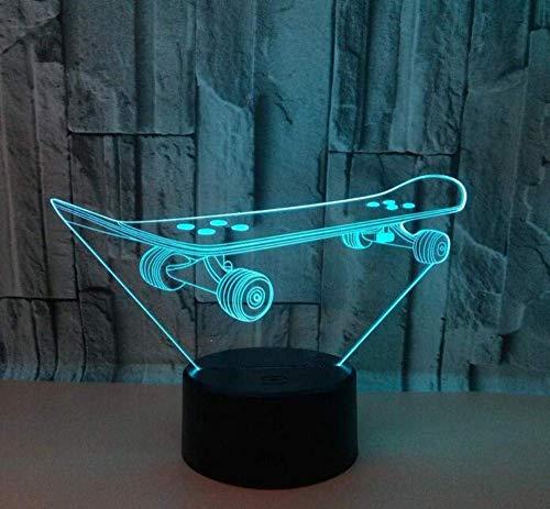 QiXian Nachtlicht Wandleuchte Led Lampe Roller Led 3D USB Lampe Bunte Touch Remote Schreibtischlampe Deco Enfant Chambre Tischlampe Vintage 3D Nightlight für Küchenschlafzimmer Wohnzimmer