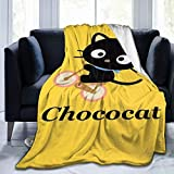 Cozy Soft Flannel Blanket Luxury Chococat Bed Throw Blanket Throw Blanket Ultra Soft Thick Microplush Bed Blanke