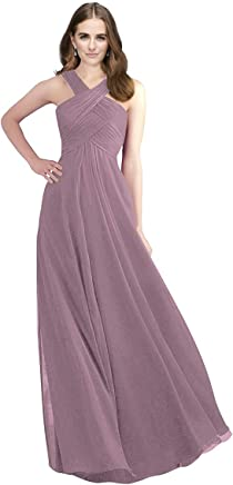 74135e4cfb Lily Anny Long Chiffon Halter Bridesmaid Dresses Prom Gowns L211LF