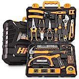 Hi-Spec Set di attrezzi per casa e garage da 75 pezzi. Set completo di attrezzi manuali per la riparazione e la manutenzione a casa, in ufficio e in officina. Tutto in una cassetta