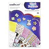 Starplast Block Fantasía Para Manualidades, A4, 4 Diseños Dintintos, 18 Patrones Distintos, 60 Hojas, De Block Fantasía