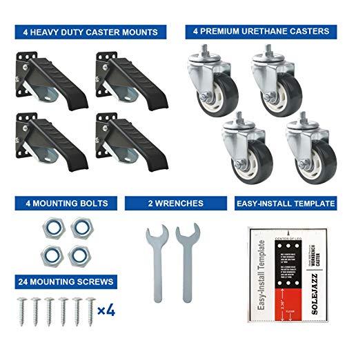 SOLEJAZZ Workbench Caster kit 880 LBS Capacity 3