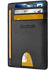 Portatarjetas de Crédito Antirrobo Corto de Moda Portatarjetas Compacto y Ranura para Múltiples Tarjetas