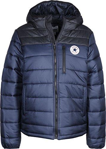 Converse Herren Core Poly Fill Jacket Jacke, Blau (Dark Obsidian/Black 424), Large