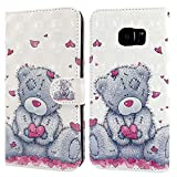 Ailisi Samsung Galaxy S7 Edge Case, 3D visual Cute Love