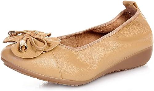 Chaussures De Danse Danse Pliables Chaussures Simples De Printemps Chaussures De Loisirs Chaussures De Travail Chaussures Bow Peas