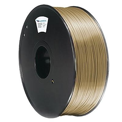Surreal Pure ABS 3D Printer Filament 1.75mm - 1KG spool, Gold