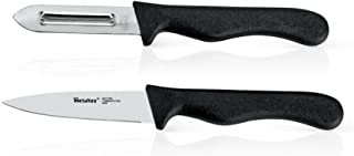 Metaltex 258131 - Pelapatatas y Cuchillo Verduras, 8 centímetros