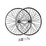 WHZZ 27.5 Pulgadas Juego Ruedas de Bicicleta V-Brake 26 Pulgadas Pared Doble Aleación Aluminio MTB Ruedas Ciclismo Liberación Rápida 32 Hoyos 6/7/8 Velocidad Llanta Ruedas