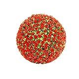Simulation Garden Boj Buxus Bolas césped - Bola roja de la Flor - Boda - Decoración de Navidad 30Cm