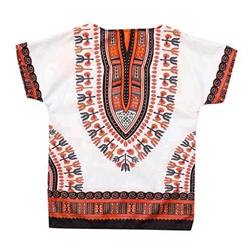 Julhold Jongen Meisje Kinderen Baby Mode Vrije tijd Unisex Heldere Afrikaanse Kleur Kind Dashiki T Shirt Tee Tops Zomer 2-7Yeaars