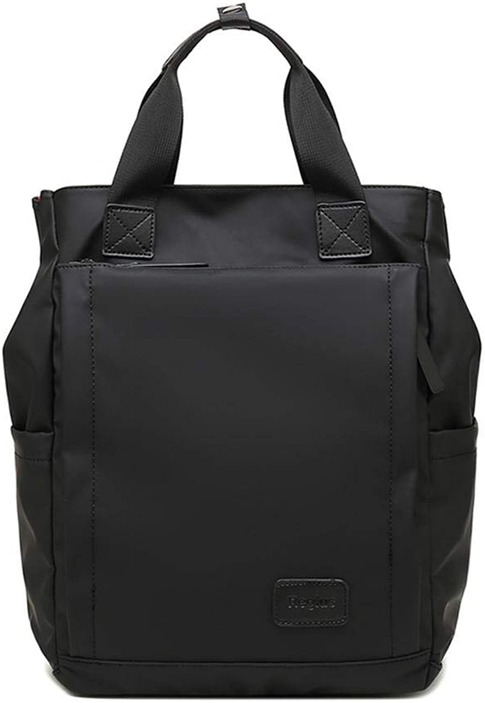 Laptop BackpackBusiness Computer Bag Backpack DualUse Men's Bag Waterproof Fabric Female Student Travel Retro Casual Business Backpack Black