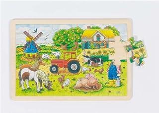 Goki - 57891 - Puzzle En Bois À Encastrement - Ferme des meuniers - 24 Pièces