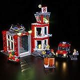 ADMLZQQ Conjunto de Luces (Architecture City Downtown Fire Brigade Rescue) Modelo de Construcción de Bloques - Kit de luz LED Compatible con Lego 60216(NO Incluido en el Modelo)