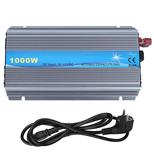 Inversor de conexión a red 1000W Apilable DC24-36V Entrada Salida 230VAC MPPT Micro inversor de onda sinusoidal pura apto para panel solar de 24V/36V((EU Plug))