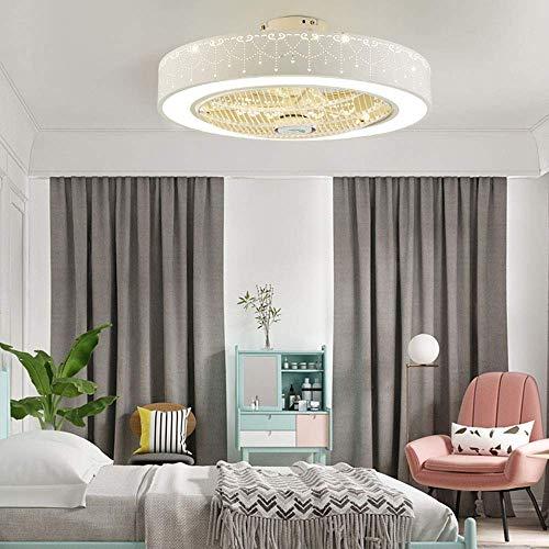 Mooie decoratieve lampen, 40 W, dimbaar, led, plafondlamp, rond, wit, met plafond, stil licht, ventilator, creatief design, plafondventilator met verlichting voor woonkamer