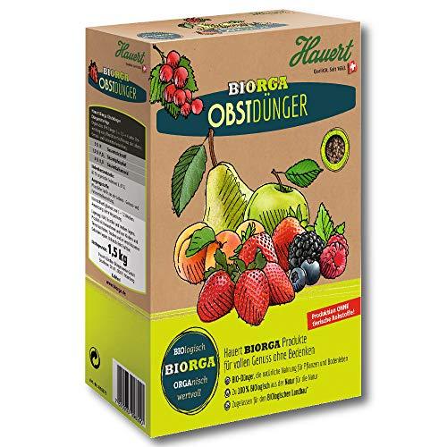 Hauert Biorga Engrais Fruits 1,5 kg Baies Keinobst Steinobst Vignes