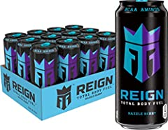 THE ULTIMATE FITNESS FOCUSED BEVERAGE | blended with BCAAs, 300 mg of natural caffeine, CoQ10 & Electrolytes, Reign Total body fuel is designed for your active lifestyle. Offering zero sugar, 10 Calories, and zero artificial Flavors & Colors, Reign i...