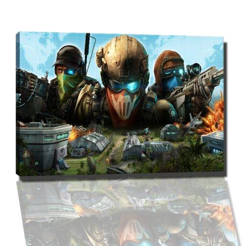 PC Action game afbeelding op canvas - 60x40 cm kant-en-klare kunstdruk afbeeldingen als muurschildering - Goedkoper dan olieverfschilderij of schilderij - GEEN poster of affiche