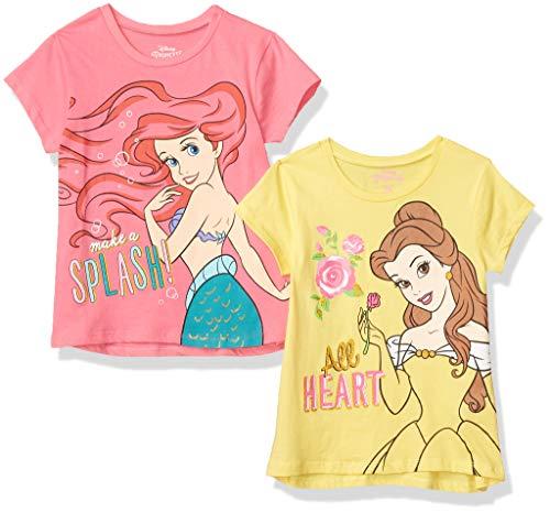Disney Princess Girls 4 Pack Short Sleeve T-Shirts