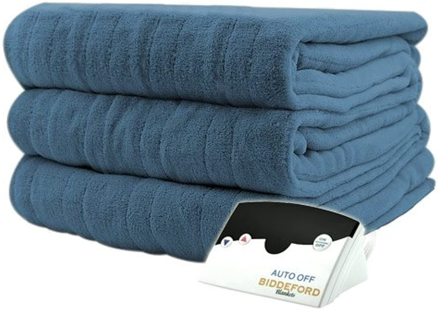 Biddeford 2031-905291-500 Luxurious MicroPlush Electric Heated Blanket Full Denim