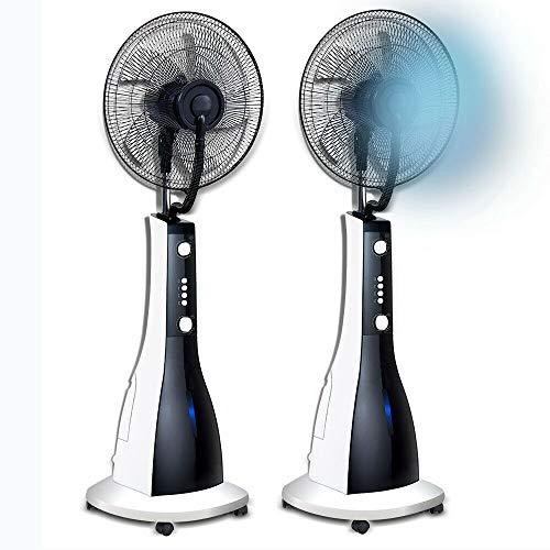 SIVAN Ventilador oscilante con Ruedas y nebulizador 90W Ø41cm 3 velocidades