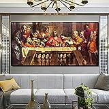 Obras de arte clásicas de mayor tamañoÚltima cena lienzo pintura póster e impresiones cuadro de p...