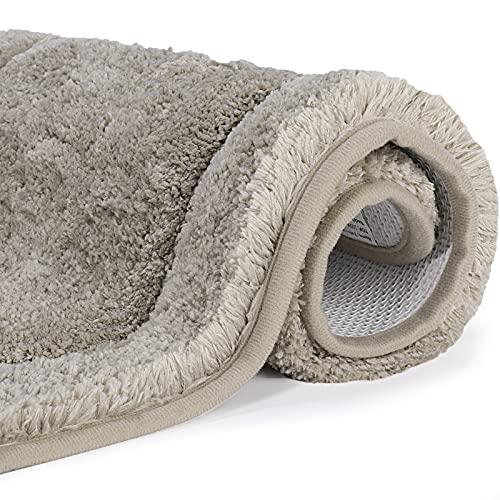 Tappeto Bagno, OKYOK Tappetino da Bagno Antiscivolo Morbido, Pelo Lungo Tappeti Bagno Doccia Molto Assorbente Lavabile in Lavatrice,Cammello di sabbia,Dimensioni: 40x60 cm
