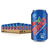 Zevia Zero Calorie Soda, Cherry Cola, Naturally Sweetened Soda, Cherry Cola-flavored Carbonated Soda; Refreshing, Full of Flavor and Delicious Natural Sweetness with No Sugar, 12 Fl Oz (Pack of 24)