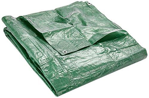 Verdemax 469490G/m² 4x 5m Lona Impermeable con Ojales-Verde