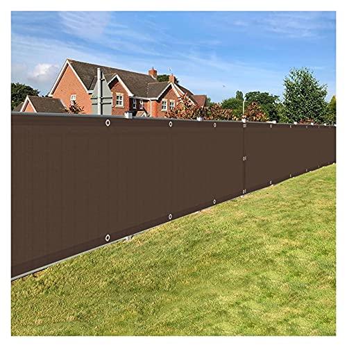 ALBN - Pantalla de privacidad para balcón, para exteriores o vallas, paredes de patio, HDPE, resistente a la intemperie con agujeros de metal, cubierta de balcón (color: marrón,...