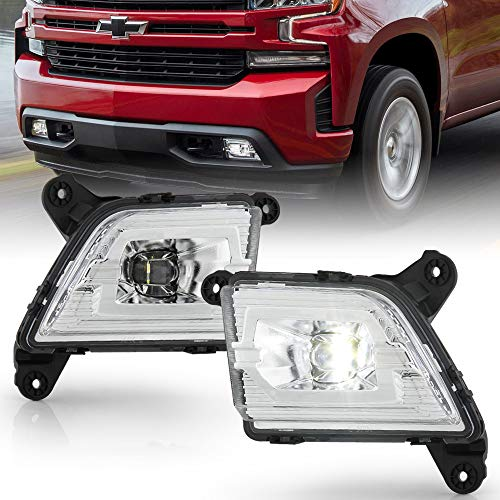 ACANII - For 2019-2020 Chevy silverado 1500 LED Bumper Fog Lights Driving Lamps w/Switch Kit Assembly Pair Left+Right