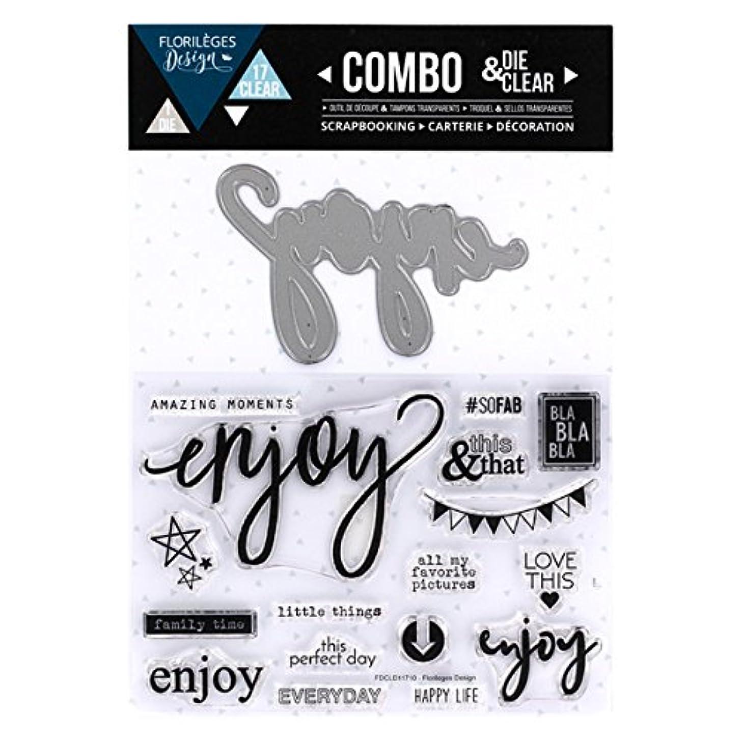 Florilèges Clear Polymer Stamp fdcld11710?Enjoy Sheet Metal/Design 25?x 15?x 0.5?cm