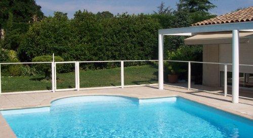 Chalet et jardin Barrière de Protection pour Piscine Panneau Transparent 96 x 112 cm (x1)
