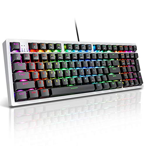VicTsing RGB Mechanical Gaming Keyboard,...