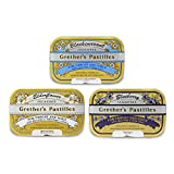 Grether's Pastilles Sugarfree Formula for Dry Mouth and Sore Throat Relief, 3 Flavor Variety Pack,...