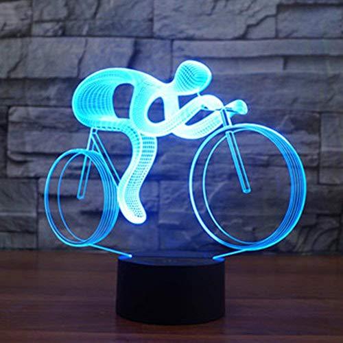 Kreative 3D Fahrrad Nacht Licht 7 Farben Andern Sich USB Adapter Touch Schalter Dekor Lampe Optische Täuschung Lampe LED Lampe Tisch Kinder Brithday Weihnachten Geschenke