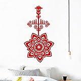 xingbuxin Wandtattoo Modernes Design Kronleuchter Wandaufkleber Mandala Blume Abnehmbare Kunstwand...