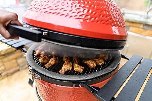 Kamado Joe KJ23RHC Classic II Ceramic Charcoal Grill, 18 inch, Blaze Red